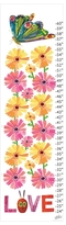 Butterflies Love Flowers Growth Chart by Eric Carle (Canvas)