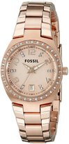 Fossil Women's AM4508 Serena Analog Display Analog Quartz Gold Watch