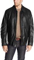 Andrew Marc Men's Macdougal Calf Leather Shirt Collar Jacket