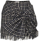 Faith Connexion bow-detail tweed mini skirt