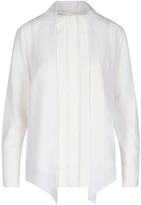 Chloé Knotted Collar Blouse