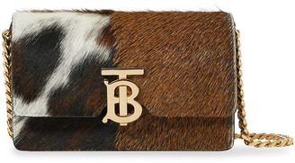 Burberry Mini Calf Hair and Leather Shoulder Bag
