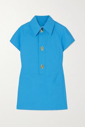 Bottega Veneta Cutout Cotton-poplin Top - Blue