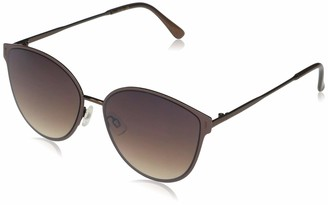 Jessica Simpson Women's J5866 Metal Enamel Rim Cat-Eye UV Protective Sunglasses | Wear Year-Round | Give as a Gift to Her