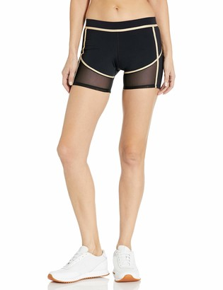 Luli Fama Women's Fishnet Cut Off Shorts