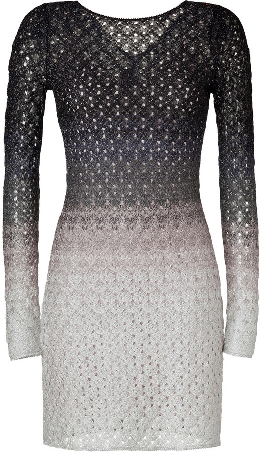 Missoni Pale Rose/Black Lurex Knit Dress
