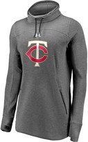 Under Armour Women's Minnesota Twins Heathered Charcoal Team Mark Performance Tri-Blend Pullover Sweatshirt
