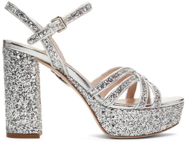 086ad8b9d63 Silver Glitter Sandals