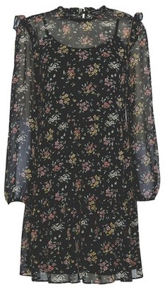 Dorothy Perkins Womens Black Ditsy Print Frill Smock Dress, Black