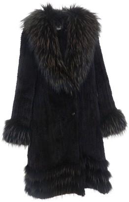 Yves Salomon Brown Rabbit Coat for Women