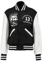 R 13 Vintage Varsity Embroidered Wool-Blend And Leather Jacket