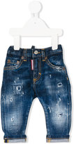 DSQUARED2 distressed effect jeans - kids - Cotton/Spandex/Elastane - 3 mth