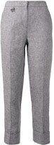 Lorena Antoniazzi Cropped Turn Up Cuff Trousers