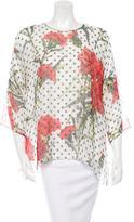 Dolce & Gabbana Carnation Silk Top