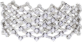 FANTASIA Rounds And Bag Cubic Zirconia Flex Bracelet