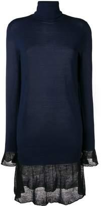 Sacai Roll Neck Sweater Dress