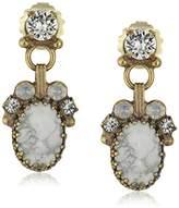"""Sorrelli Pearl Luster"""" Eyelet Cluster Drop Earrings"""