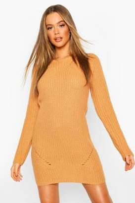 boohoo Rib Knitted Midi Dress