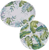 Certified International 2 Piece Tropicana Round Platter & Oval Platter