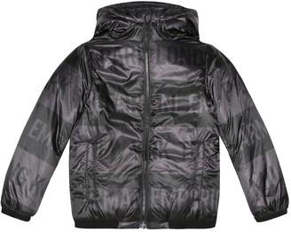 Emporio Armani Kids Printed puffer jacket