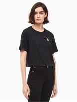 Calvin Klein Jeans Monogram Logo Cropped T-Shirt