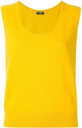 Chanel Pre Owned Cashmere Sleeveless Top