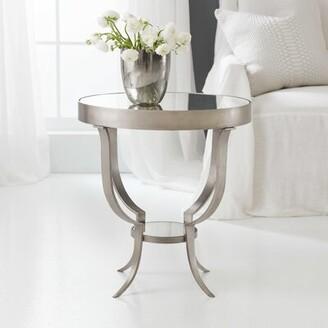 Modern History Gueridon End Table Home Table Base Color: Antique Aluminum