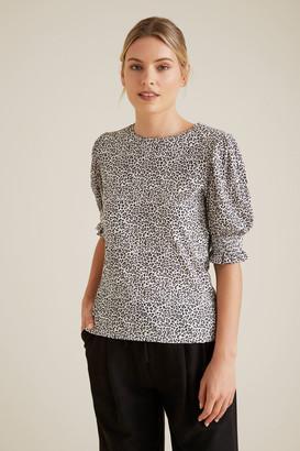 Seed Heritage Shirred Sleeve Top