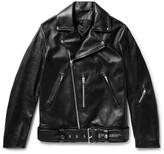 Acne Studios Nate Leather Biker Jacket - Black