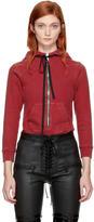 Unravel Red Hooded Zip Bodysuit