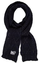 Dolce & Gabbana Wool Cable Knit Scarf