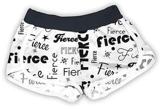 Urban Smalls Girls' Casual Shorts Multi/Black - White & Black 'Fierce' Shorts - Toddler & Girls