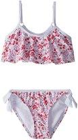 Snapper Rock Girls' Watercolor Hearts Flounce Bikini Set (2T14) - 8155083