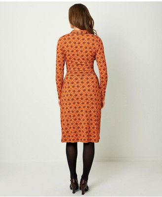 Joe Browns Crafty Collar Dress - Burnt Orange