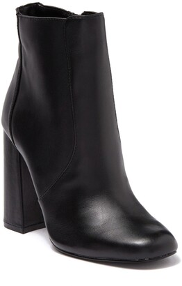 Steve Madden Trix Leather Block Heel Bootie