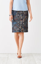 J. Jill Ponte Knit Printed Pencil Skirt
