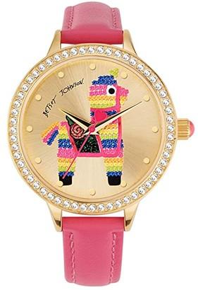 Betsey Johnson Pinata Surprise Watch (Gold) Watches