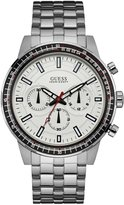 GUESS Silver-Tone Masculine Chronograph Watch