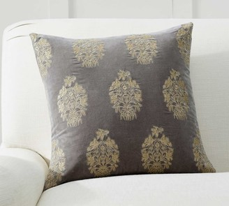 Pottery Barn Christelle Embroidered Pillow Cover