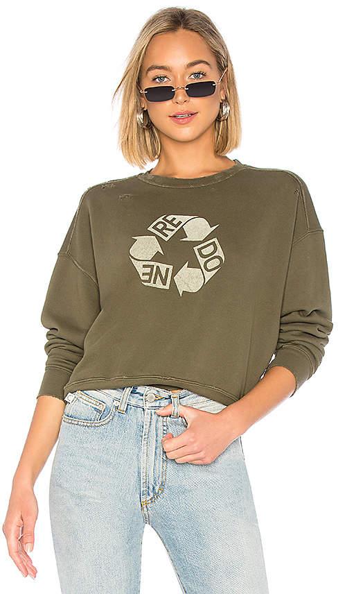 RE/DONE Recycle Crew Neck Sweatshirt