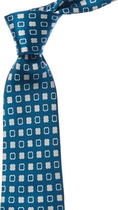 Kiton Teal Square Silk Tie