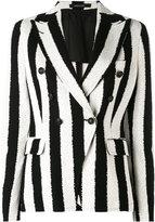 Tagliatore striped blazer - women - Cotton/Cupro - 44