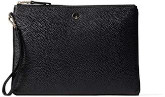 Kate Spade Polly Large Pouch Wristlet (Black) Handbags
