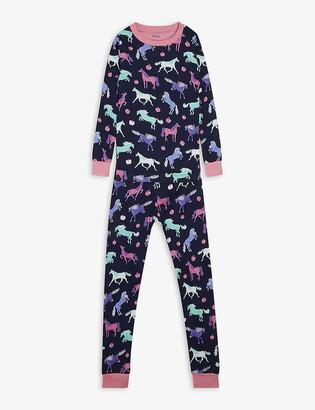 Hatley Happy Horses-print cotton pyjamas 2-10 years