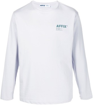 AFFIX Long Sleeve Logo Print Top