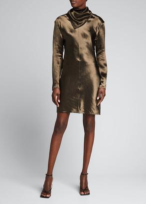 Bottega Veneta Neck-Scarf Sheath Dress
