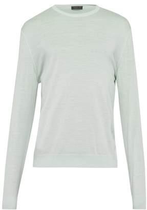 Prada Fine Virgin Wool Sweater - Mens - Mint