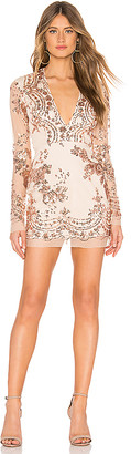 superdown Jessa Deep V Mini Dress
