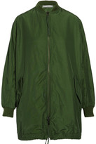 Vince Oversized Cotton-blend Shell Bomber Jacket - Army green