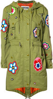 Moschino flower patch fishtail jacket
